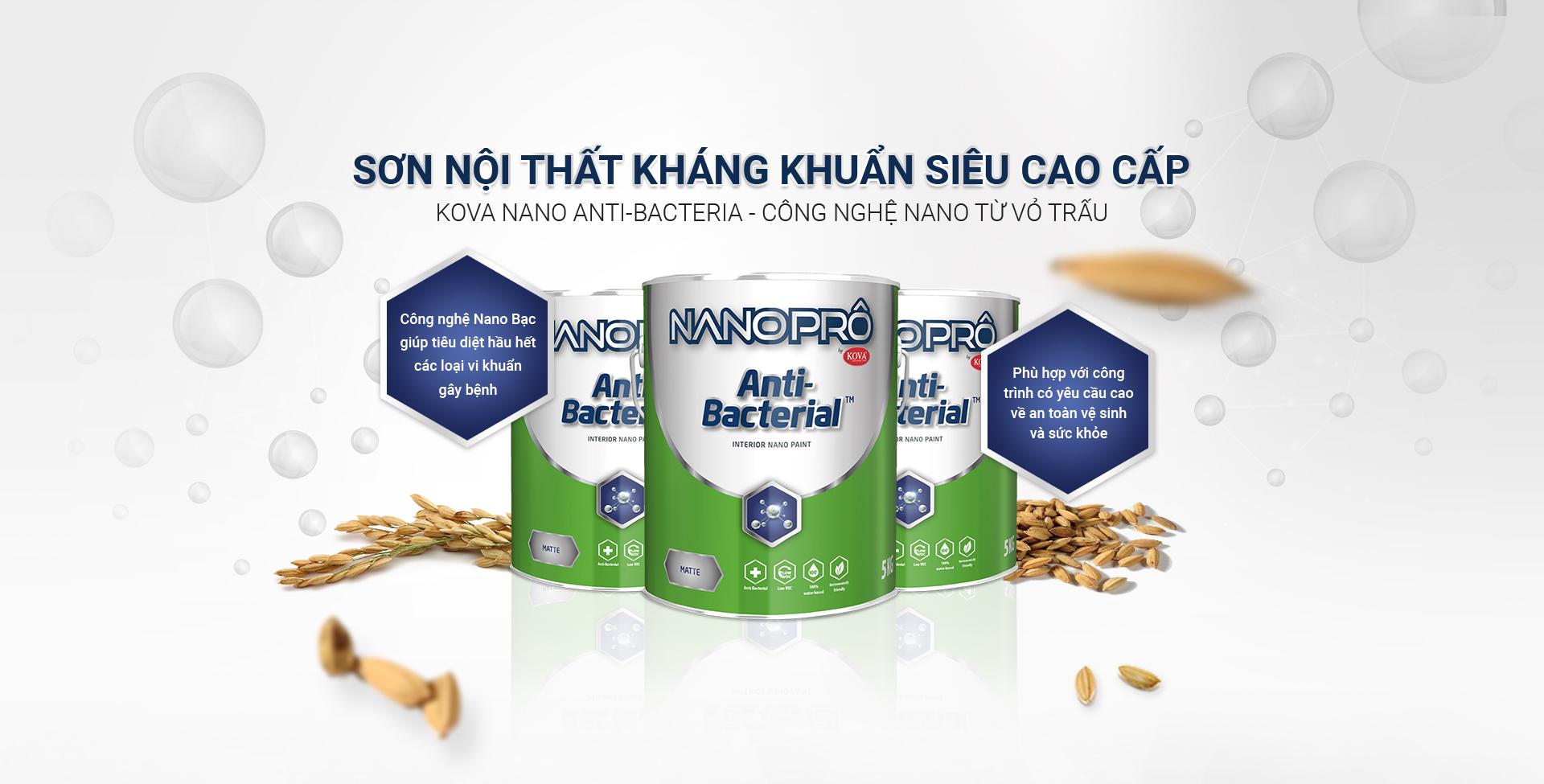 Sơn Nội Thất Kháng Khuẩn Siêu Cao Cấp KOVA NANO Anti-Bacteria